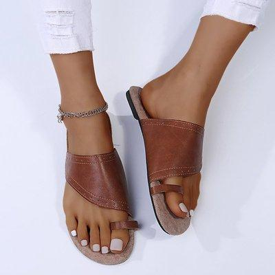 Brown Flat Heel Sandals