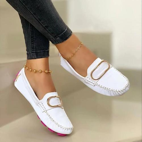 Women's Comfy Metallic Detail Flat Shoes