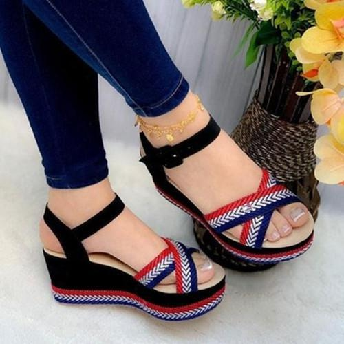 Wedge Peop Toe Sandals
