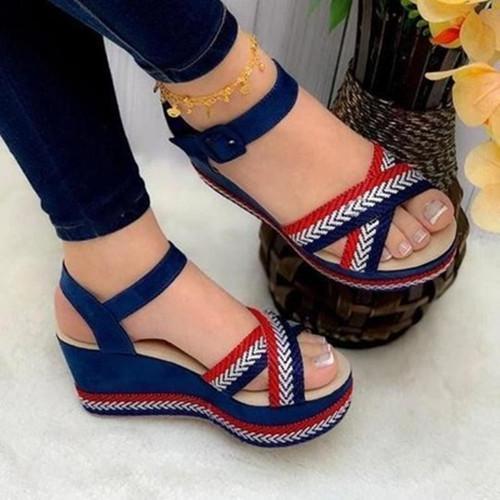 Wedge Peop Toe Sandals