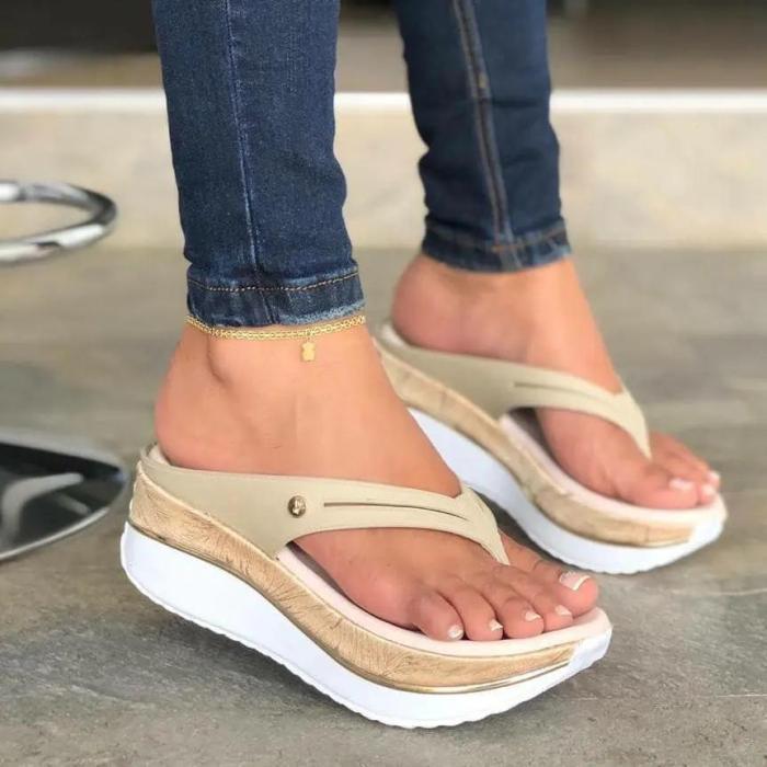 Women's Comfy Platform Flip Flops