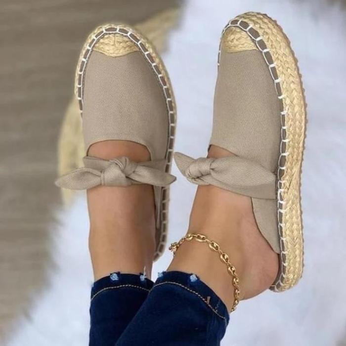 Women's Fashion Bow Casual Slippers