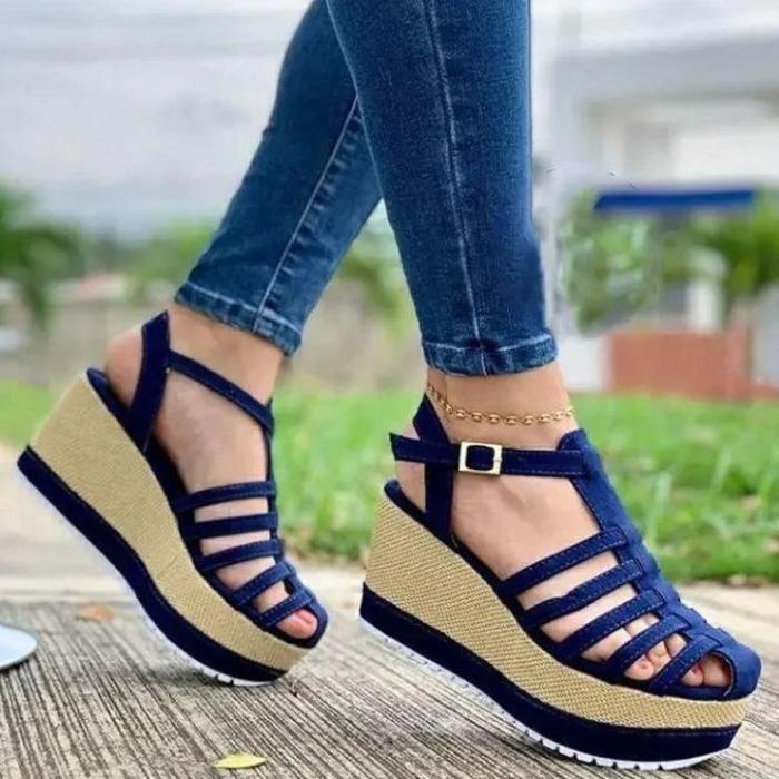 Women's Fashion Wedge Woven Sole Sandals