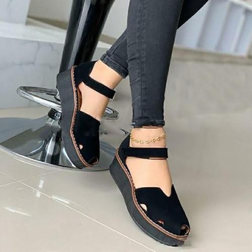 Summer Peop Toe Wedge Sandals
