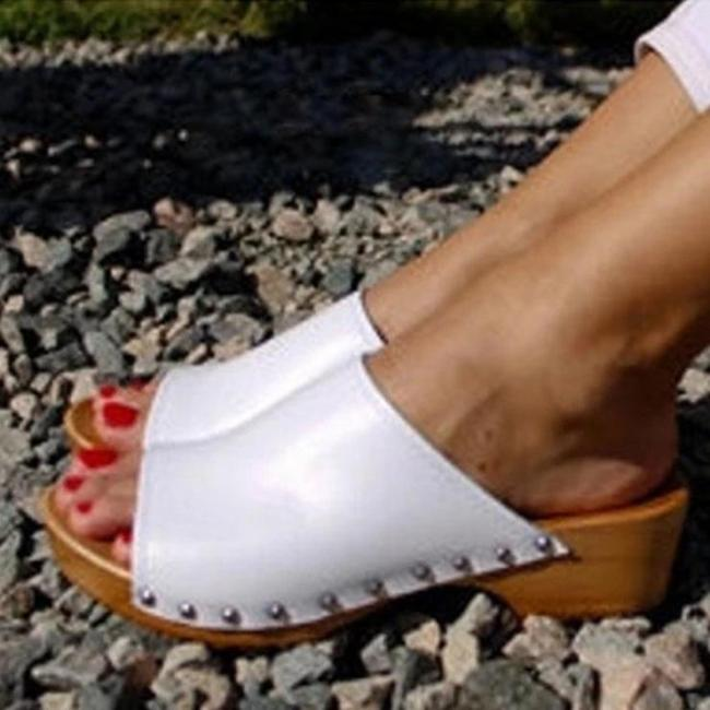 Women's Open Toe High Heel Clogs Sandals