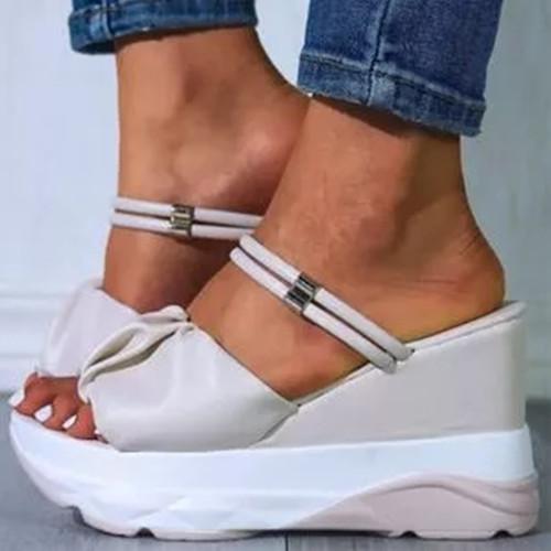 Women's Round Toe Wedge Heel Sandals