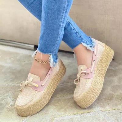 Women's Fashion Muffin Knit Platform Loafers