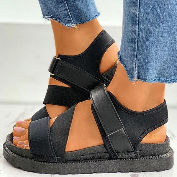 Women's Fashion Open-toe Velcro Platform Sandals
