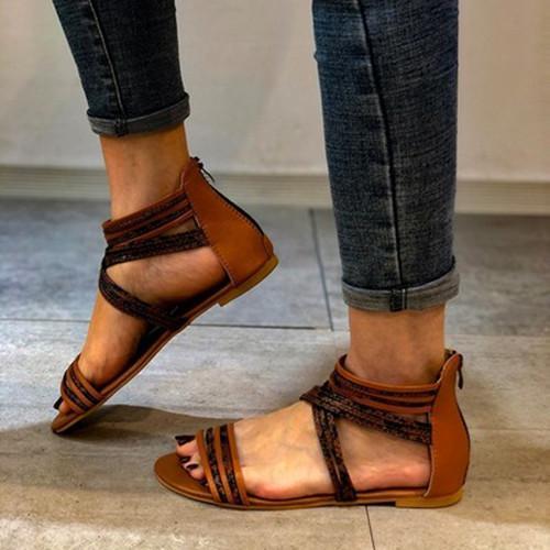 Roma Zipper Sandals