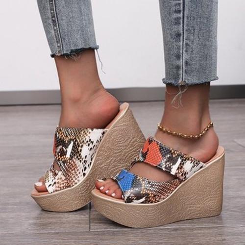 Women's Fashion Retro Wedge Heel  Sandals