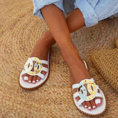 Women's Fashionable Bohemian Flat Beach Slippers