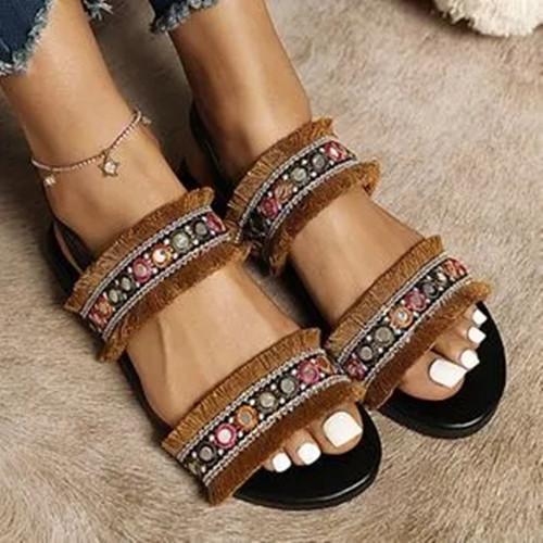 Women's Round Toe Flat Heel Slippers