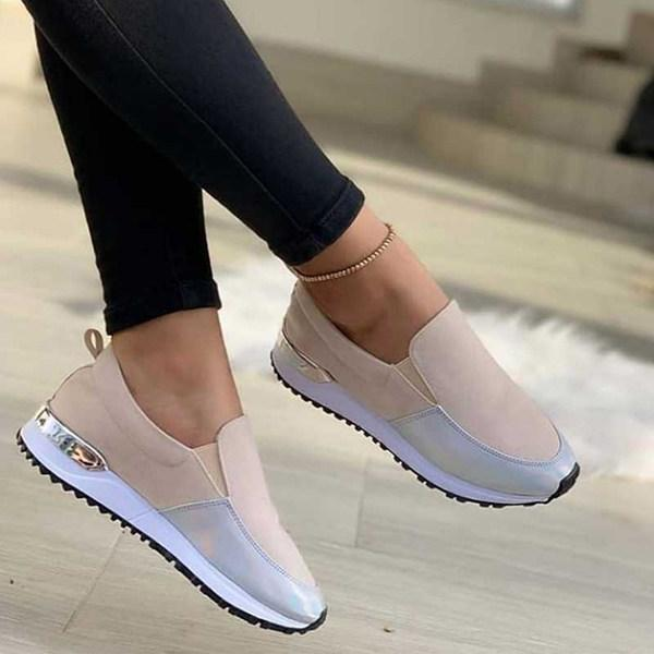 Women's Casual Patchwork Color Flat Sneakers