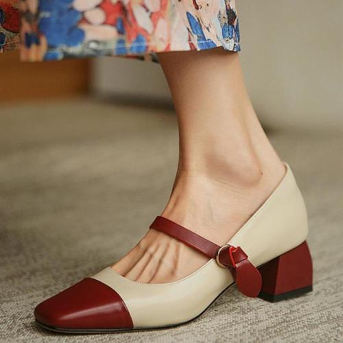 Square-toe Shallow Mouth Jenny Shoes