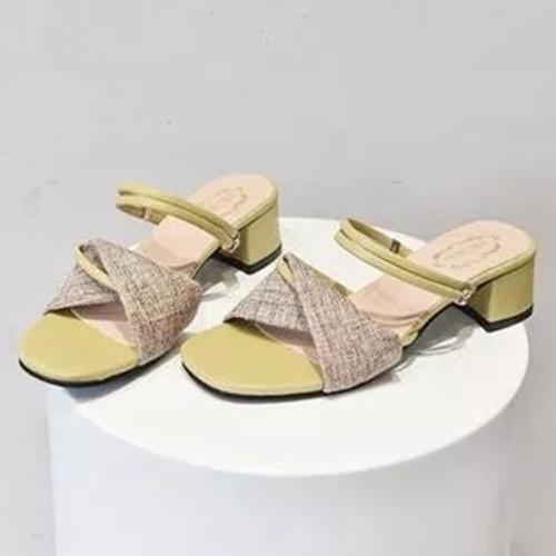 Women's Heels Leatherette Chunky Heel Slippers