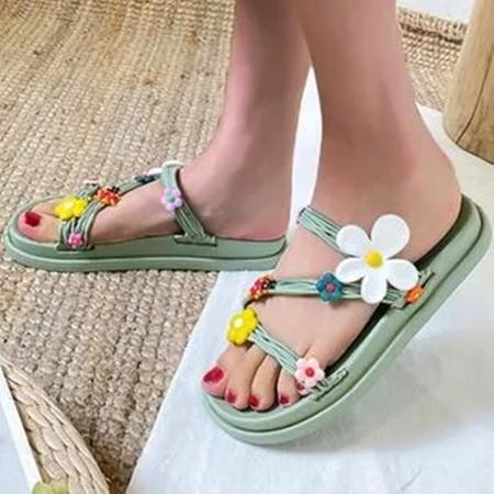 Women's Flower Flats Flat Heel Slippers