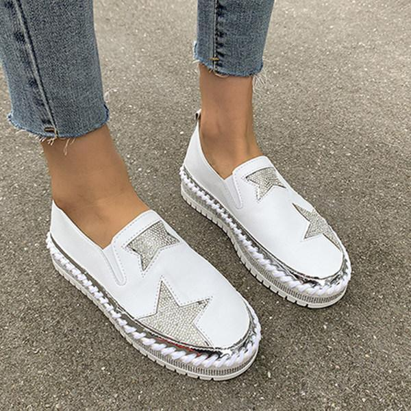 Women's Casual Fashion Water Drill Flat Loafers