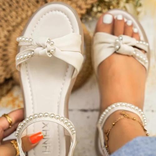 Date Pu Summer Bowknot Sandals