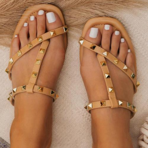 Womens Rivet Casual Slippers