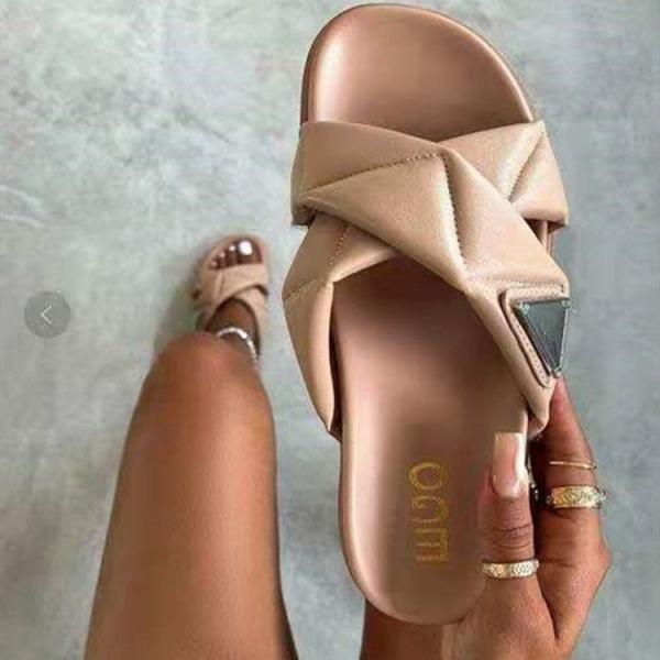 Womens Fashion For Open-toe Flat Slippers