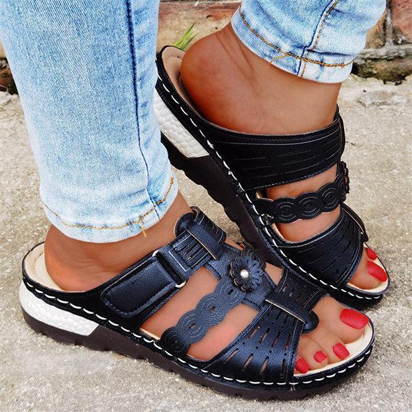 Women's Vintage Comfortable Hollow Design Sandal