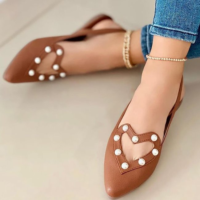 Pointed Toe Pearl Sandals