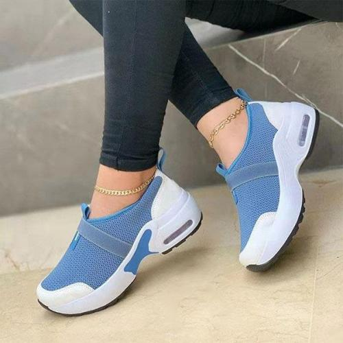 Women's Casual Comfortable Flying Woven Lace-up Sneakers