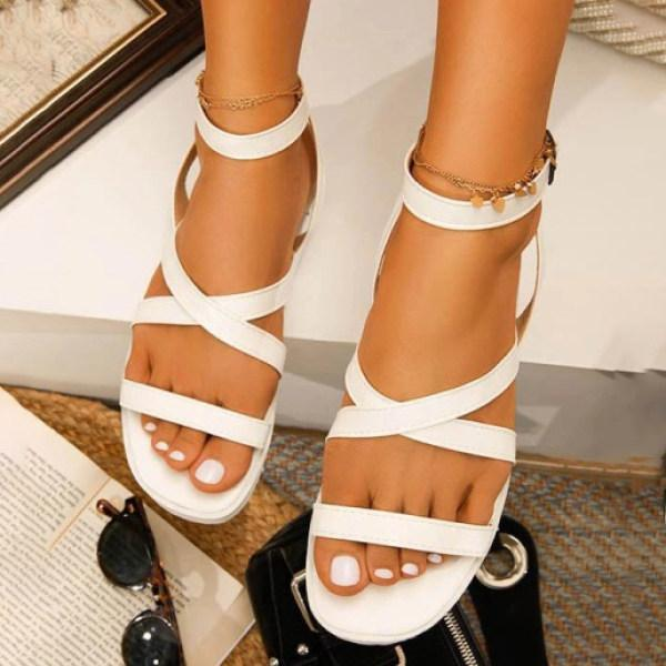 Women's Casual Roman Strappy Flat Sandals