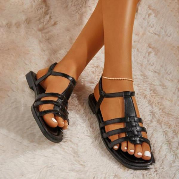Gladiator Back Gore Sandals