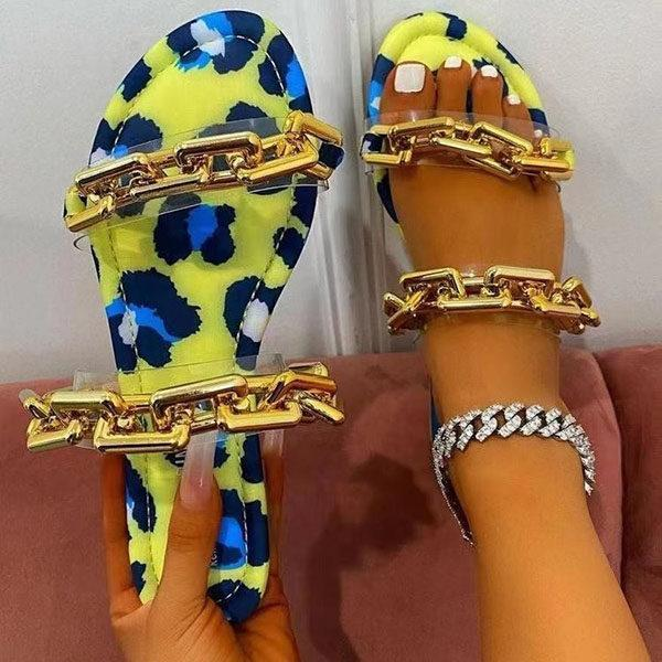 Women's Fashion Chain Flat Slippers