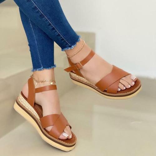 Summer Cross Tape Sandals