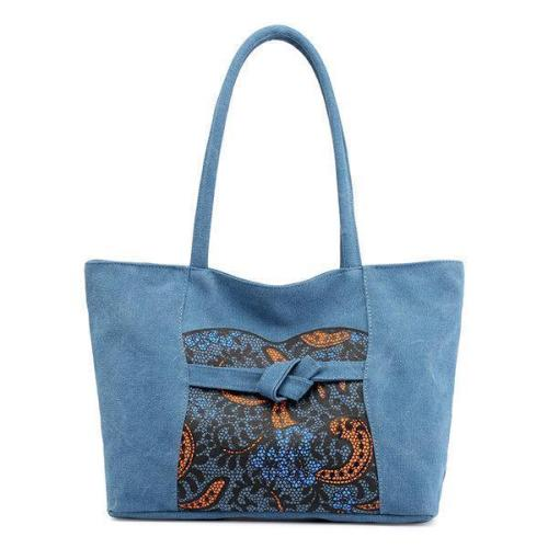 Bohemian Floral Casual Canvas Shoulder Bag Handbag