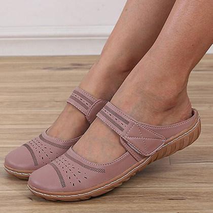 Women's Vintage Cut-out Flat Sandals
