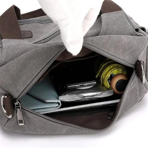 Fashion Multi-pocket Canvas Handbag Women Handbag