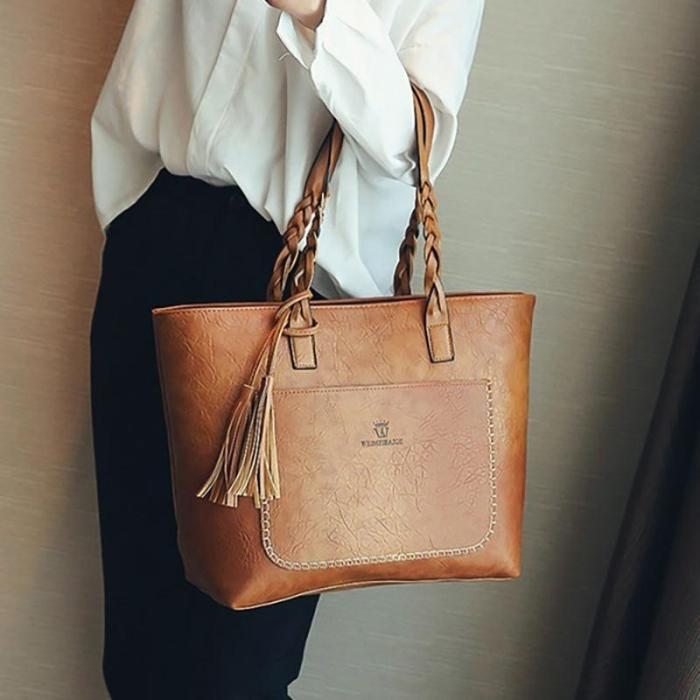 Women Vintage Shoulder Bags Leather Handbags