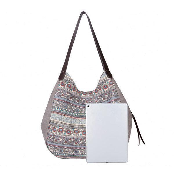 Women Canvas Bohemian Print Handbag Shoulder Bag