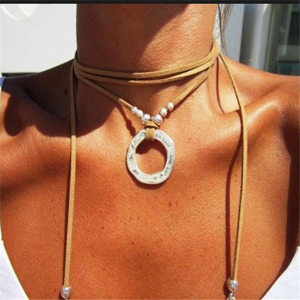 Womens Punk Boho bohemian hippy gypsy necklaces