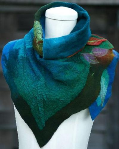 Going Out Color Block Polyester Shawl Scarf