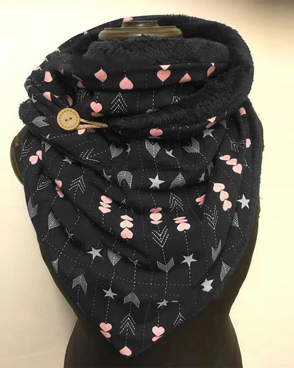 Women Polka Dots Printed Shawl Multi-purpose Neck Wrap Warm Scarf