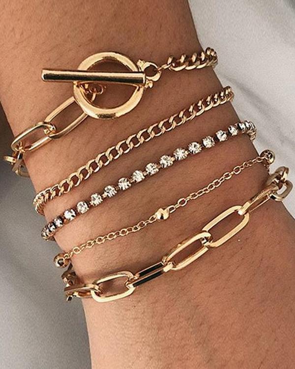 OT Rhinestone Layer Bracelets