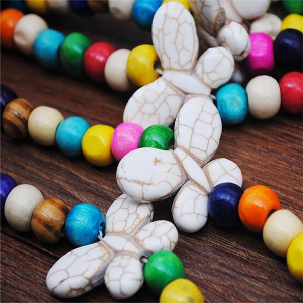 Women's Vintage Boho Tassel Beads Long Necklace