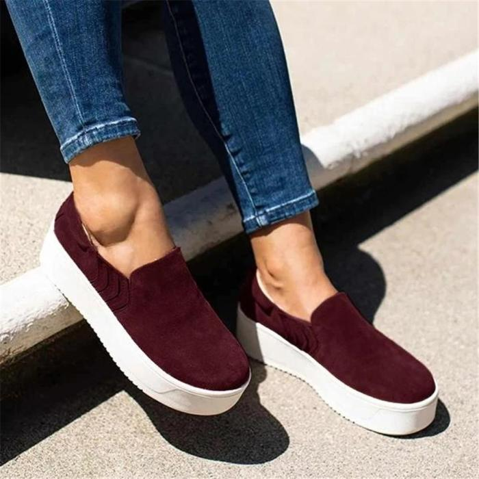 Round Toe Casual Travel Loafers