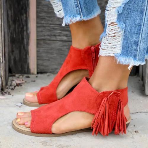 Tassel Flat Heel Sandals