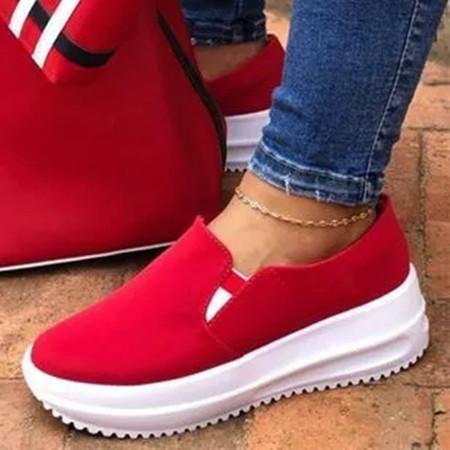 Women's Cloth Wedge Heel Sneakers