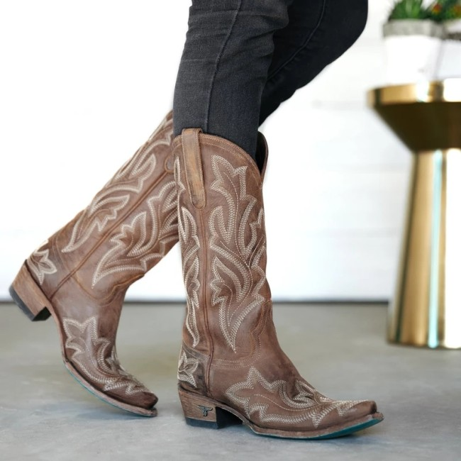 Women's Vintage Leather  High Boots