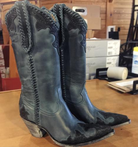 Women's Midnight Cowboy Low Heel Ankle Bootie