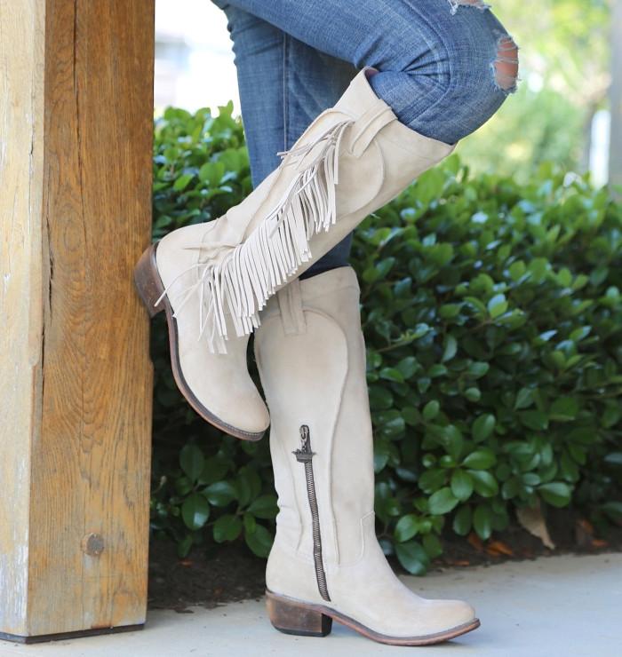 Women's Midnight Cowboy Tassel Low Heel Ankle Bootie