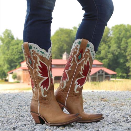 Women's Cowboy Low Heel Ankle Boots