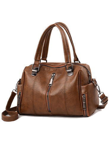 Casual Fashion Soft Leather Shoulder Bag