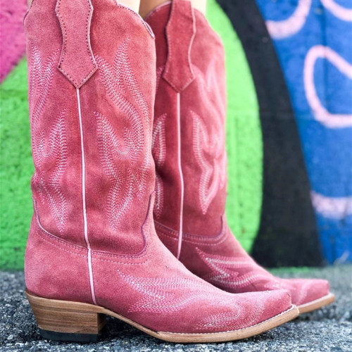 Women Mid-calf Suede Boots